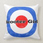 Scooter Girl Pillow