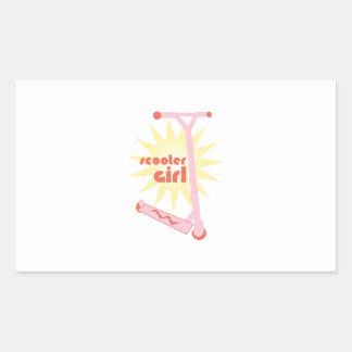 Scooter Girl Rectangular Stickers