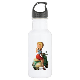 Scooter Girl Stainless Steel Water Bottle