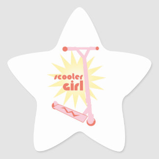 Scooter Girl Star Stickers