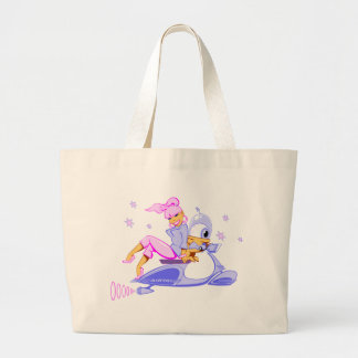Scooter Girl Tote Bag version 2