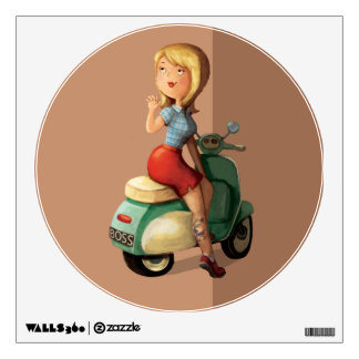 Scooter Girl Wall Decal