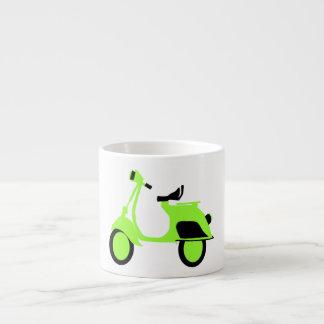 Scooter Green 6 Oz Ceramic Espresso Cup