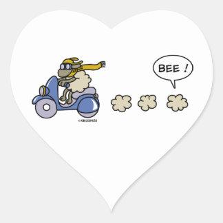 Scooter Heart Sticker