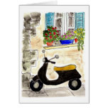 Scooter in Provence Card