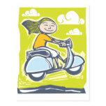 Scooter Jump Postcard