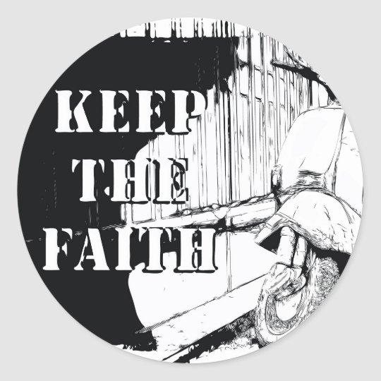 Scooter Keep the Faith Classic Round Sticker