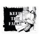 Scooter Keep the Faith Postcard