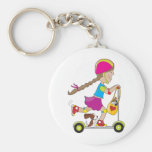 Scooter Kid Keychains