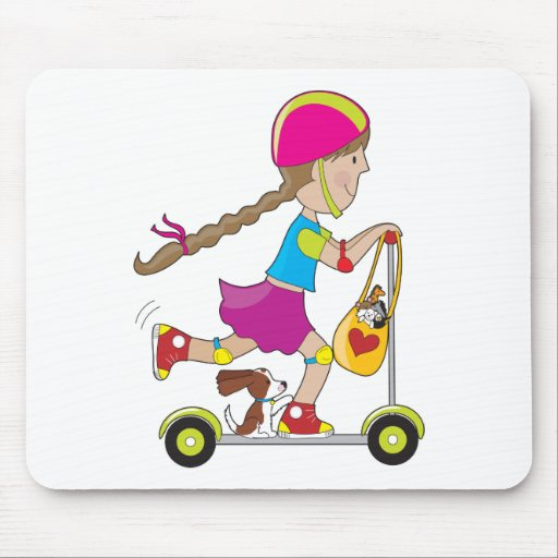 Scooter Kid Mouse Mat
