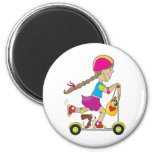 Scooter Kid Refrigerator Magnets