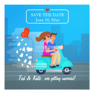 Scooter Love Save the Date Announcement