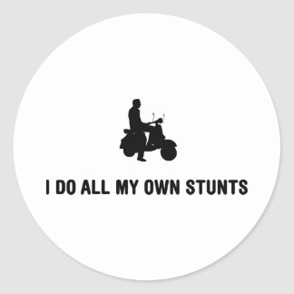 Scooter Lover Classic Round Sticker