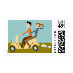 Scooter Lovin Couple Stamp