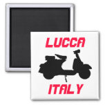 Scooter, Lucca, Italy 2 Inch Square Magnet