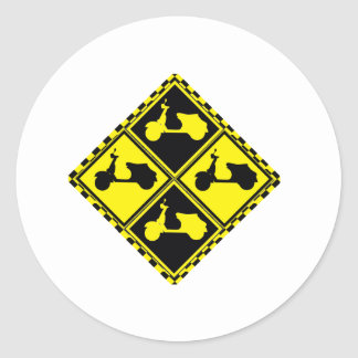 Scooter Mania! Classic Round Sticker