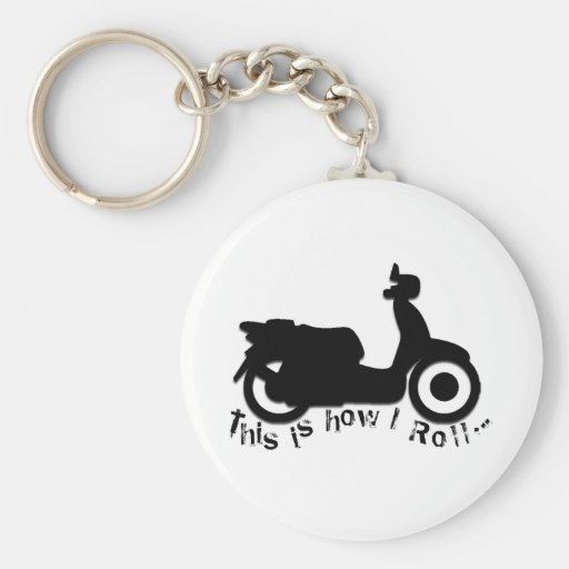 Scooter or E-Bike - This is how I Roll! Keychain