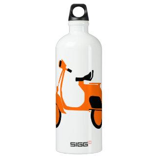 Scooter Orange Water Bottle