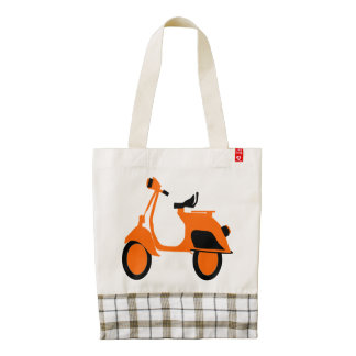 Scooter Orange Zazzle HEART Tote Bag