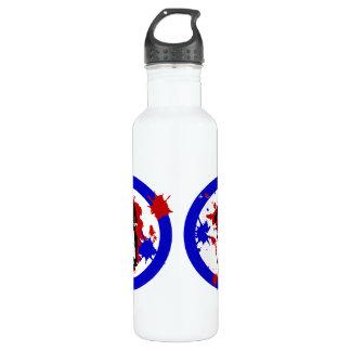 Scooter paint splat stainless steel water bottle