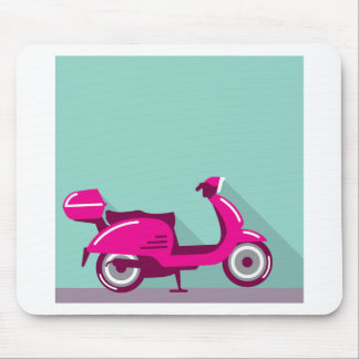 Scooter parked mouse pad