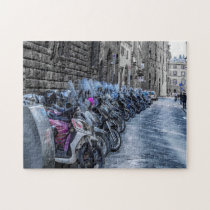 Scooter Parking in Florence Italy Jigsaw Puzzle
