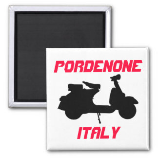 Scooter, Pordenone, Italy 2 Inch Square Magnet