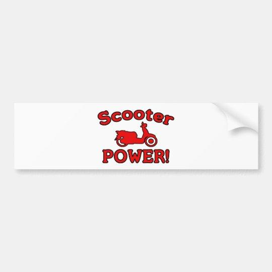 Scooter POWER! Bumper Sticker