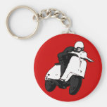 Scooter Racer grey black Keychains
