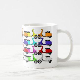 Scooter Rainbow Colors Coffee Mug