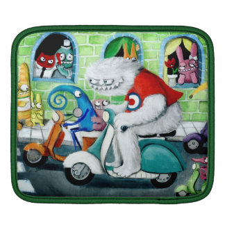 Scooter Rally - Yeti and Monsters iPad Sleeves