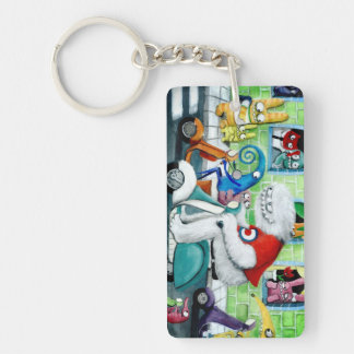 Scooter Rally - Yeti and Monsters Rectangle Acrylic Key Chains