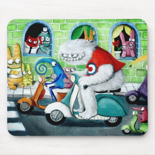 Scooter Rally - Yeti and Monsters Mouse Pad