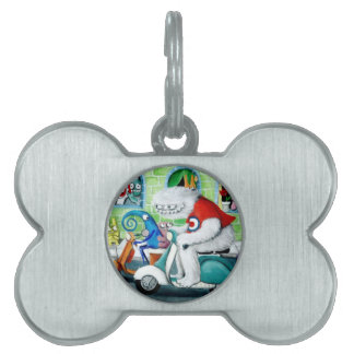 Scooter Rally - Yeti and Monsters Pet ID Tag