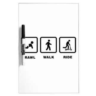 Scooter Rider Dry-Erase Whiteboards