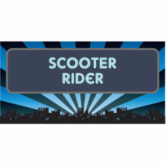 Scooter Rider Marquee Photo Sculpture Ornament