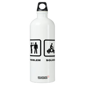 Scooter Riding Aluminum Water Bottle