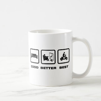 Scooter Riding Classic White Coffee Mug