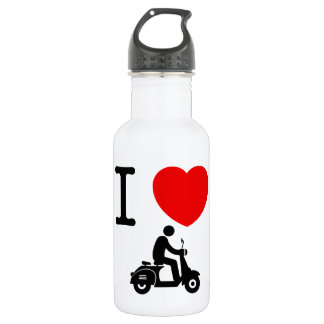 Scooter Riding Stainless Steel Water Bottle