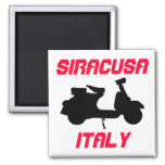 Scooter, Siracusa, Italy Fridge Magnets