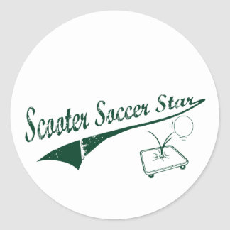 Scooter Soccer Star Classic Round Sticker