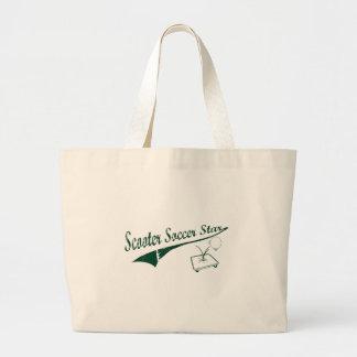 Scooter Soccer Star Jumbo Tote Bag