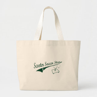 Scooter Soccer Star Large Tote Bag