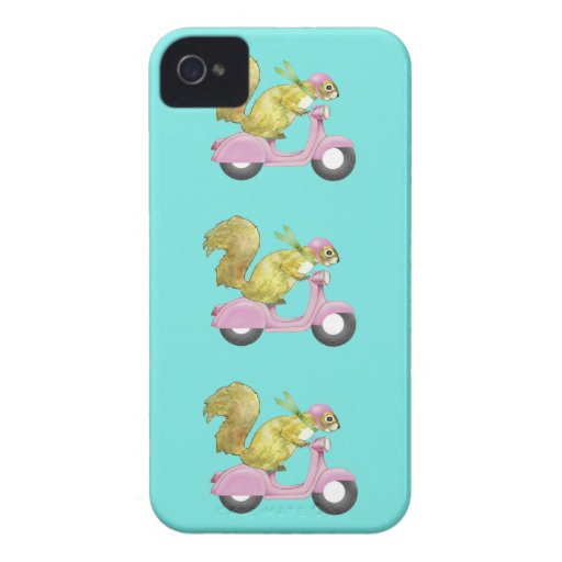 Scooter Squirrel iPhone 4/4S Case