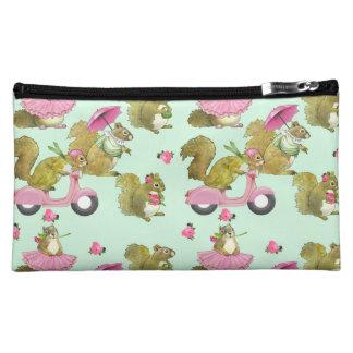 Scooter Squirrels (mint) Cosmetics Bags