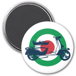 Scooter Target Italy 3 Inch Round Magnet
