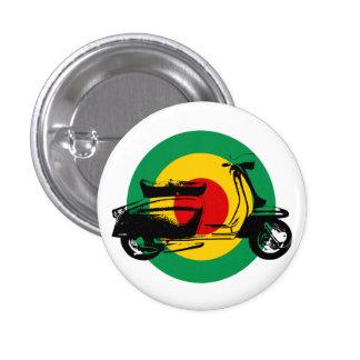 Scooter Target Rasta Pinback Button