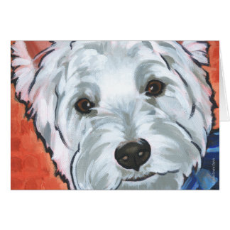 Scooter the Westie Greeting Card