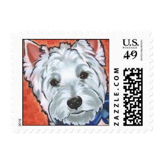 Scooter the Westie Postage Stamps