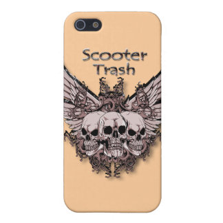 Scooter Trash flying skulls Cover For iPhone SE/5/5s